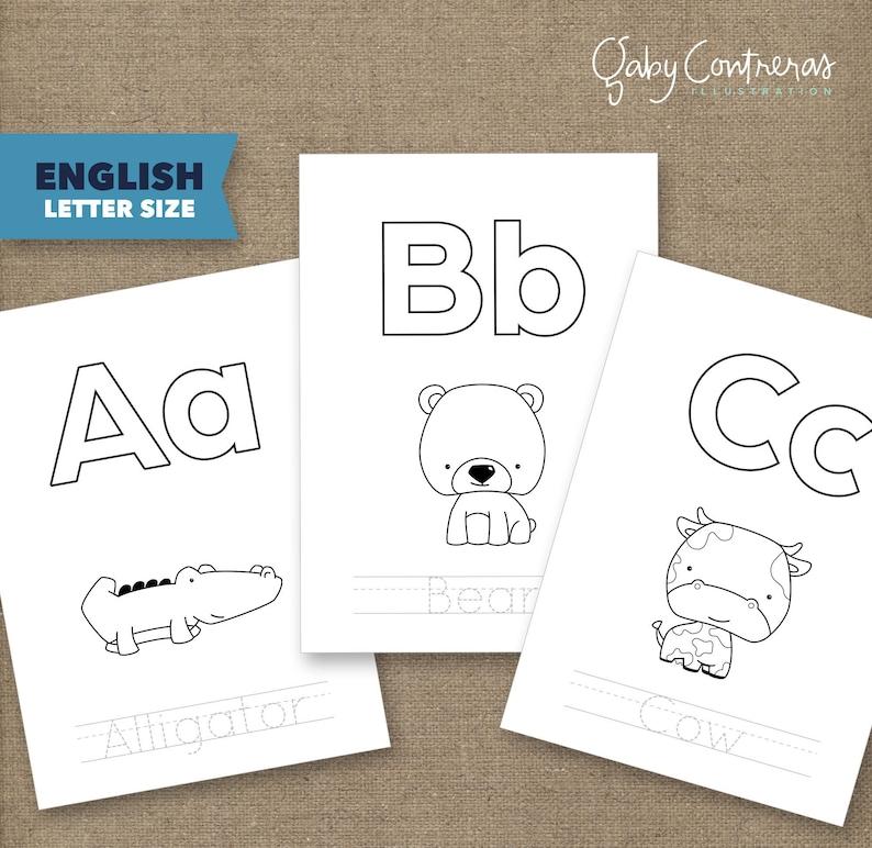 Abecedario Para Trazar Páginas Para Colorear De Animalitos Imprimibles Tamaño Carta