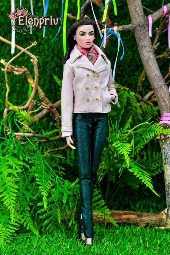 Pâle Pour Et En Veste Fashion Elenpriv Cuir Poupées Fr2 Royalty Rose q6acytZ