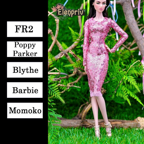 2 pieces for Barbie Fashion Royalty FR2 and Barbie. Pink clothes outfits