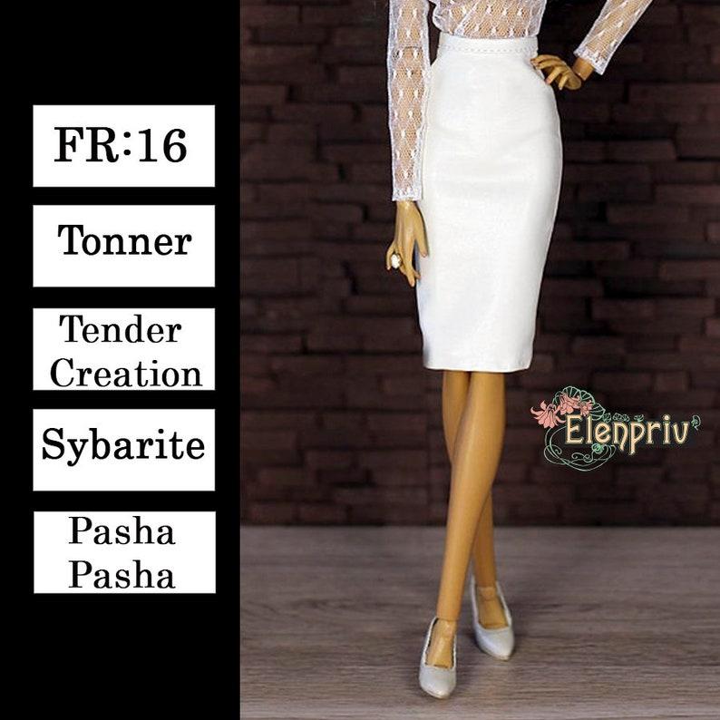 e10b0e7cd6 ELENPRIV ivory leather skirt Choose size Fashion royalty | Etsy