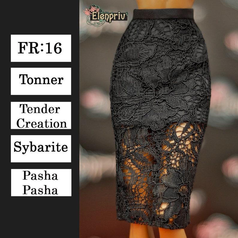 48a4189e9e ELENPRIV black lace skirt Choose size Fashion royalty FR:16 | Etsy