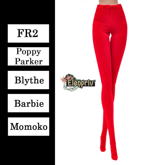 Details about  /ELENPRIV deep red jersey tights for Fashion royalty FR:16 and similar dolls