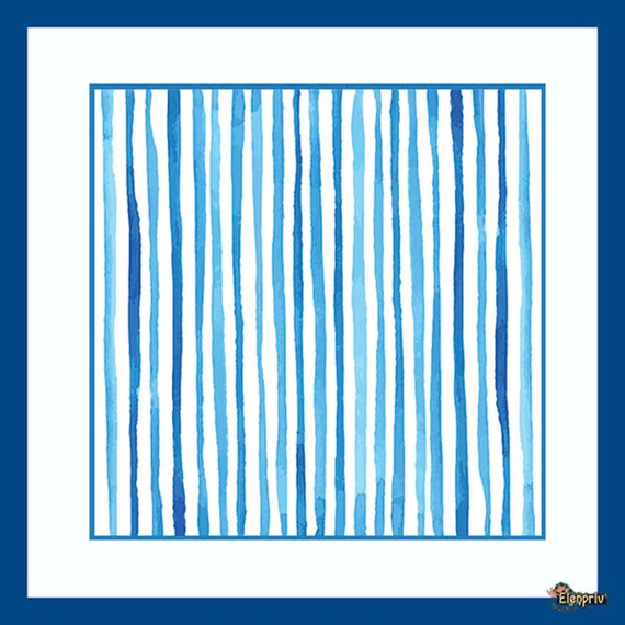 ELENPRIV blue /& white stripes printed silk headscarf #2 Fashion Royalty FR2 doll