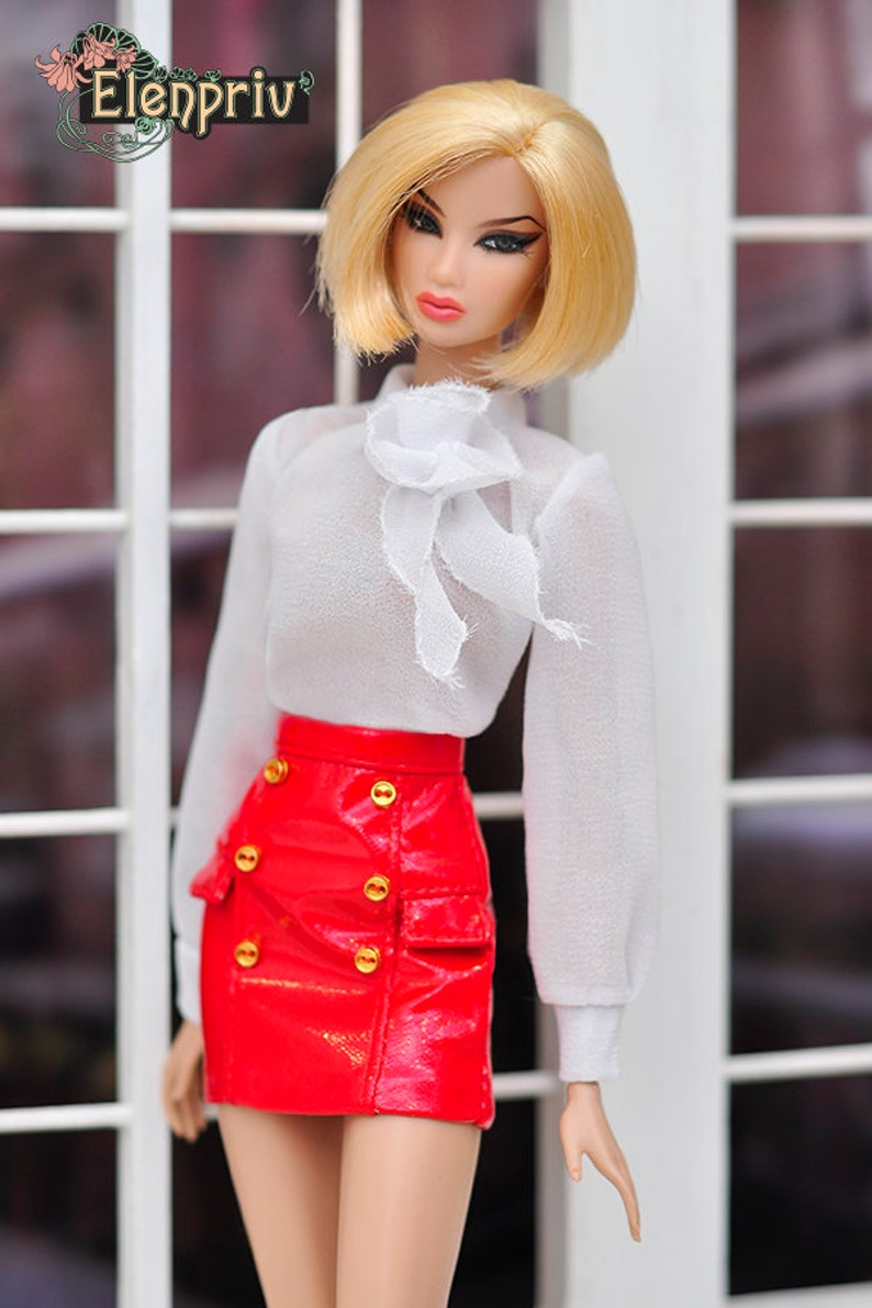 b4f2027131 ELENPRIV red pleather mini skirt Choose size Fashion royalty | Etsy