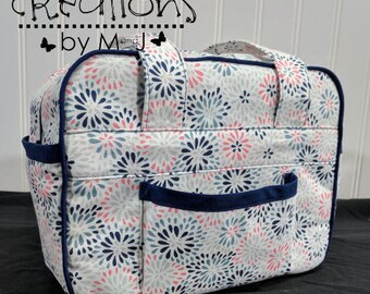 Doll diaper bag, child's purse, small bag, pretend play, sibling gift  Blue Starburst