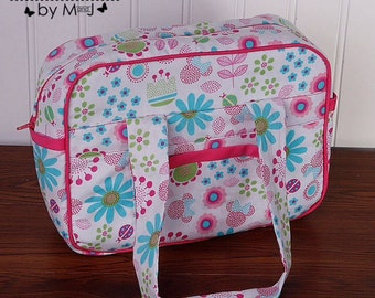 Doll diaper bag, child's purse, small bag, pretend play, sibling gift  flowers