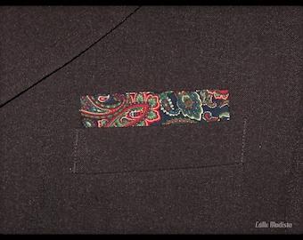 Pocket Square, Pocket Handkerchief, Blue Paisley Pocket Square, Mens Handkerchief, 60s Mod, Mens Handkerchief, Dandy, Suit Pocket Square