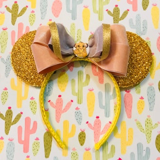 The Lion King Simba inspired Gold Sparkle Minnie Mouse Headband Ears