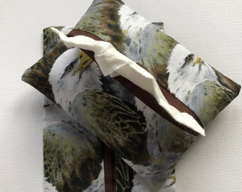 Eagle Fabric- Purse Tissue Holders- Travel Tissue Case- Tissue Packet Cover- Purse Accessory- Handmade gift under 10-Pocket Tissue Holders