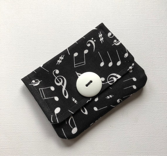 Music note fabric credit card holder music gift credit card colourmoves
