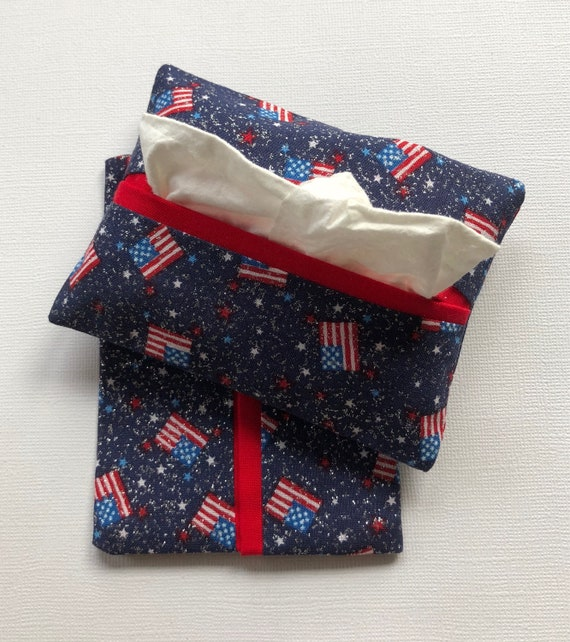 American Flag Purse Tissue Holders Pocket Tissue Holders | Etsy