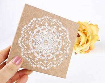 Super Big Lace Stamp -- Wooden Rubber Stamp -- Diary Stamp -- Deco Stamp -- 1 piece
