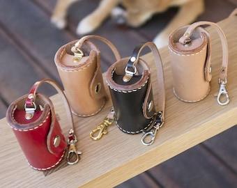 Leather Poop Bag Dispenser