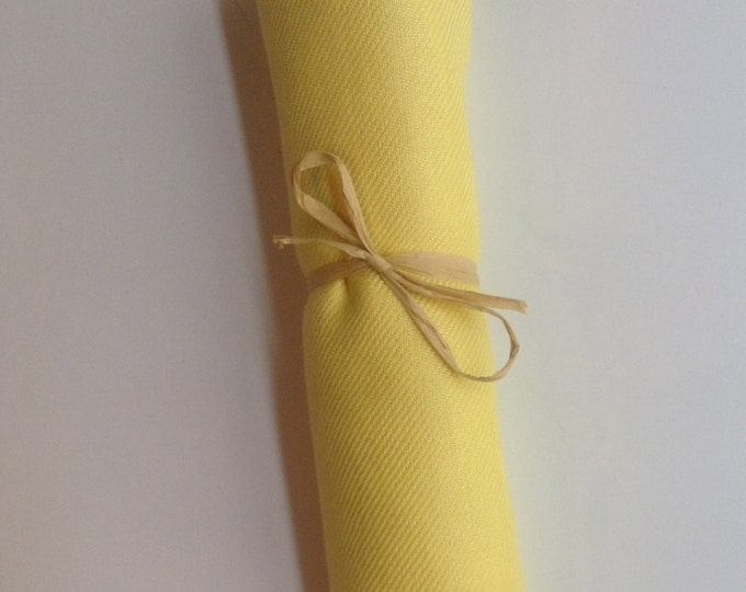 Sunshine Yellow Shawl with Raffia Ribbon, 1, Pashmina, Scarf, Wedding Favor, Bridal Shower Gift, Bridesmaids Gift, Wraps, Welcome Bags