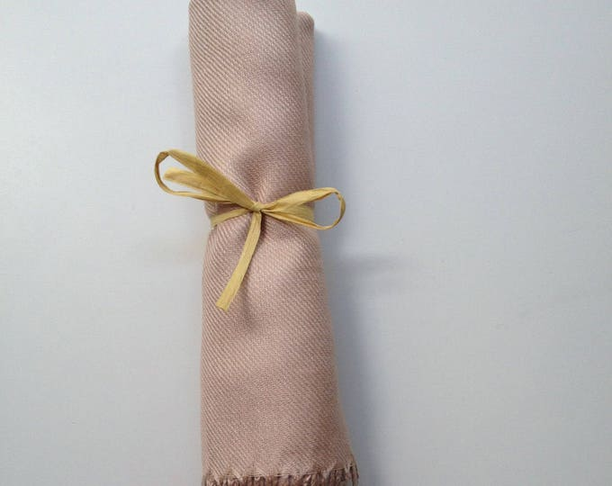 Pashmina, Nude Shawl, Raffia Ribbon, 1, Pashminas, Wedding Favors, Bridal Shower Favors, Bridesmaids Gift, Bridesmaid Pashmina, Pashmina