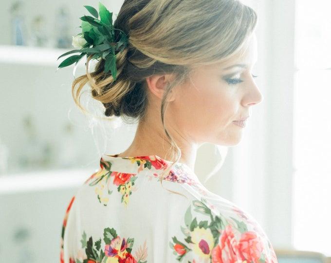 Floral Robe, 1, Floral Satin Robe, Silk Floral Robes, Bridesmaids Gifts, Wedding Party, Bridal Party Robes, Silk Bridesmaids Robe