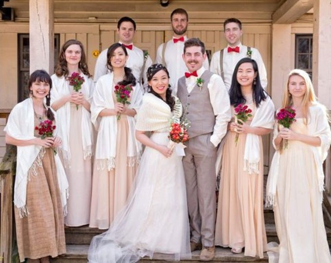Pashmina, Bridesmaid Shawls, Shawl, Flower Girl Shawls, Bridal Shawl, Shawls Pashminas, Wedding Favor, Bridal Shower Favor, Bridesmaid Gifts