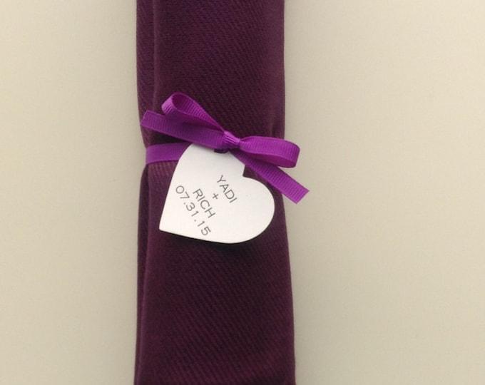 Eggplant Shawl with Purple Ribbon and Heart Favor Tag, 1, Pashmina, Wedding Favor, Bridal, Bridesmaids Gift, Wraps, Wedding Keepsakes