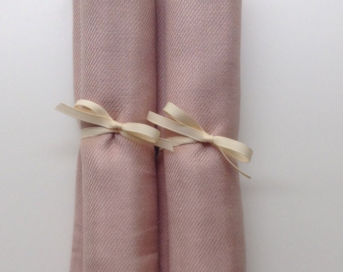 Pashmina, Nude Shawls, Ivory Ribbon, Set of 2, Pashminas, Wedding Favors, Bridal Shower Favors, Bridesmaids Gift, Wedding Keepsakes, Shawls