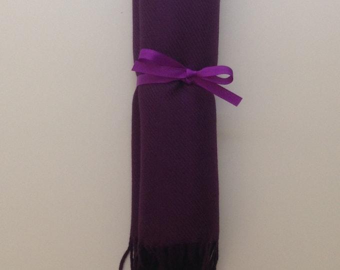 Eggplant Shawl with Purple Ribbon, 1, Pashmina, Scarf, Wedding Favor, Bridal Shower Gift, Bridesmaids Gift, Welcome Bags, Wedding Keepsakes