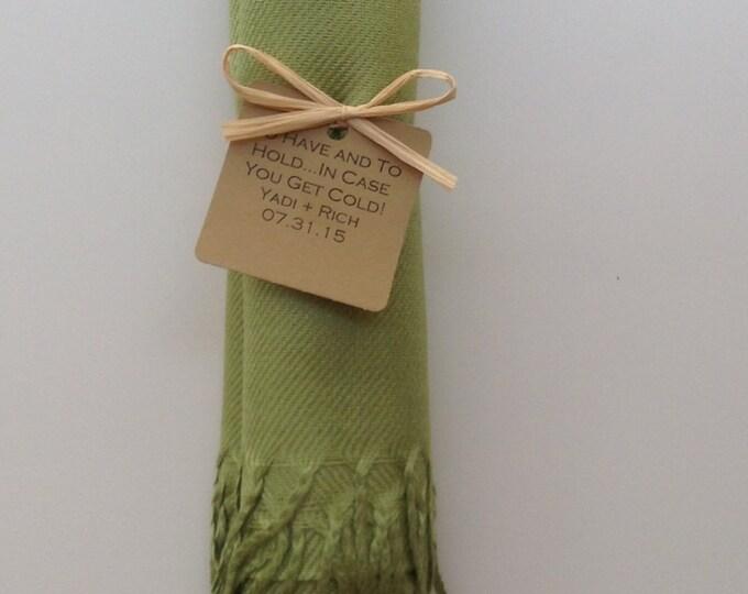Lime Green Shawl with Raffia Ribbon and Favor Tag, 1, Pashminas, Wedding Favors, Bridal, Bridesmaids Gift, Wedding Shawls, Wraps