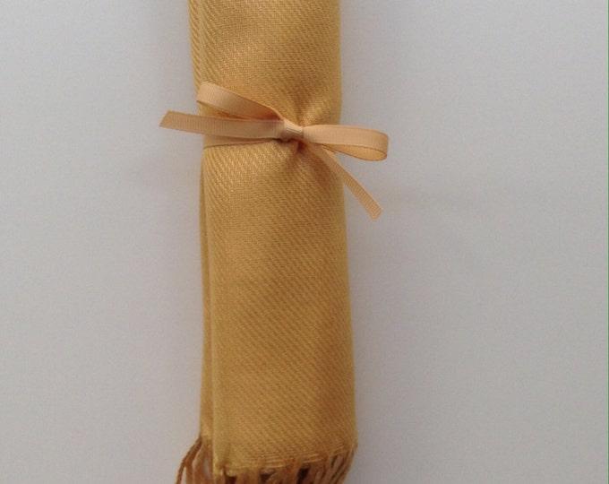 Pashmina, Gold Shawl, Gold Ribbon, 1, Pashmina, Wedding Favors, Bridal Shower Favors Bridesmaids Gift, Bridesmaid Pashmina, Pashmina, Shawls