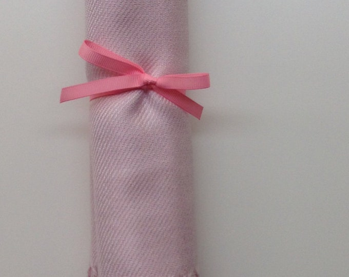Baby Pink Shawl with Pink Ribbon, 1, Pashmina, Scarf, Wedding Favor, Bridal Shower Gift, Bridesmaids Gift, Welcome Bags, Wedding Keepsakes
