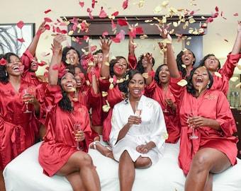 Bridesmaid Robes, Bridesmaid Gift, Bridal Party Gifts, Bridal Party Robes, Flower Girl Robes, Bridal Party Robes, Bridal Robes, Wedding Robe