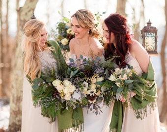 Lime Green Shawls, Lime Green Pashminas, Shawls, Pashminas, Bridal Party Gifts, Bridesmaids Gifts, Flower Girl Pashmina, Bridesmaid Pashmina