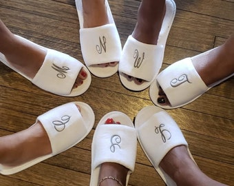 Spa Slippers, Spa Parties, Spa Slippers with Embroidery, Kids Spa Slippers, Kids Spa Parties, Spa Party, Spa Slippers, Spa Party