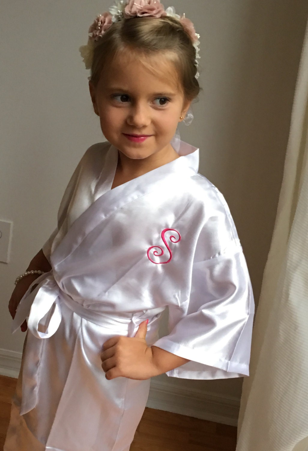 c46261d5a ... Bridal Party Robes, Children Satin Robes. gallery photo gallery photo  ...