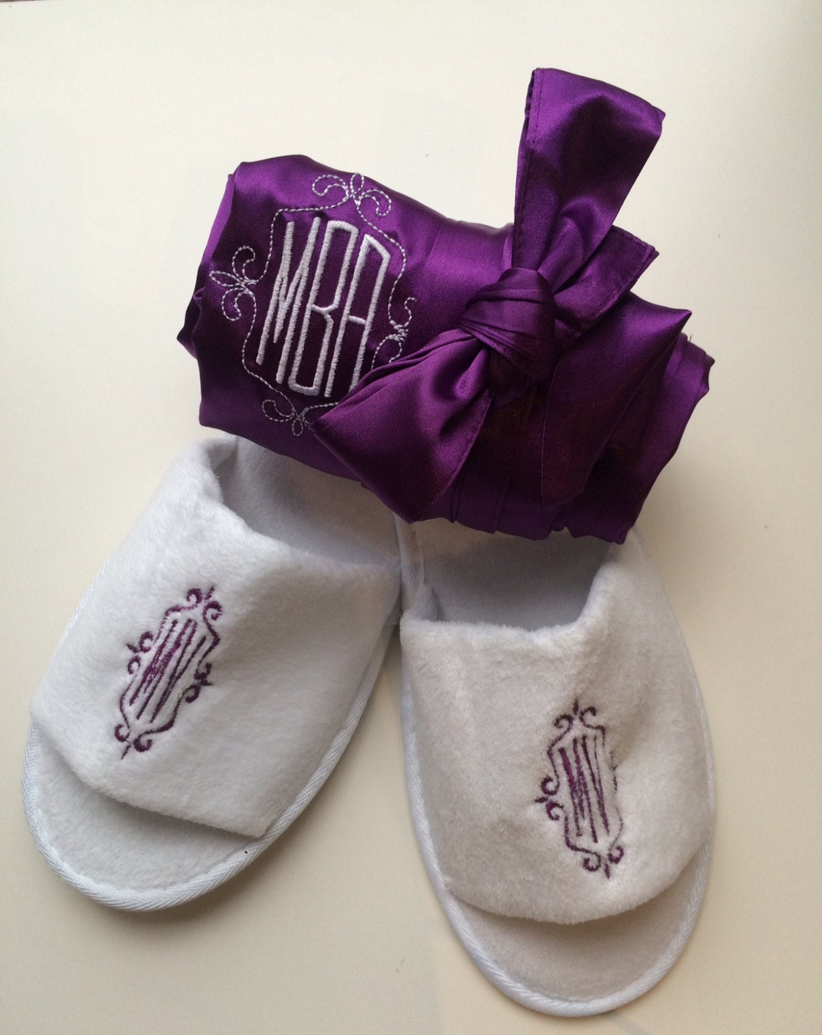 4e8687c33 Bridal Party Robes with Spa Slippers
