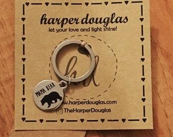 Mama Bear Key Chain Pendant New Mom Proud Mom Mothers Day