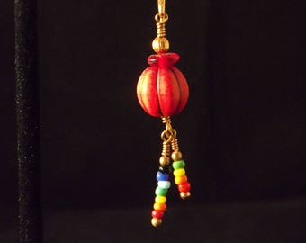Fun red and multicolor earrings