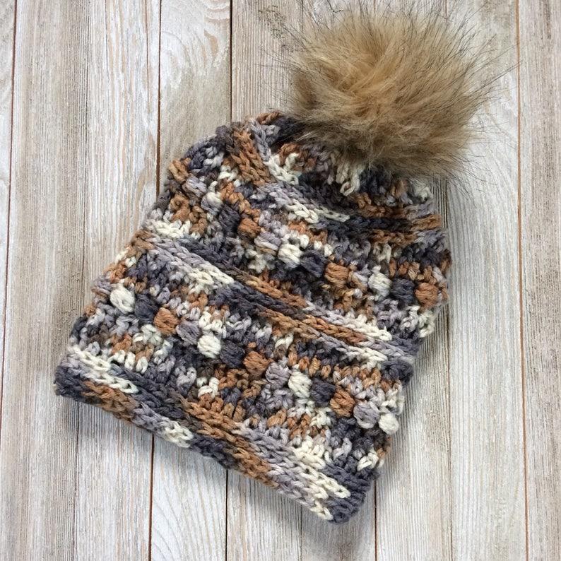 9ffc787679c16 CROCHET PATTERN Sticks   Stones PDF Beanie Winter Hat