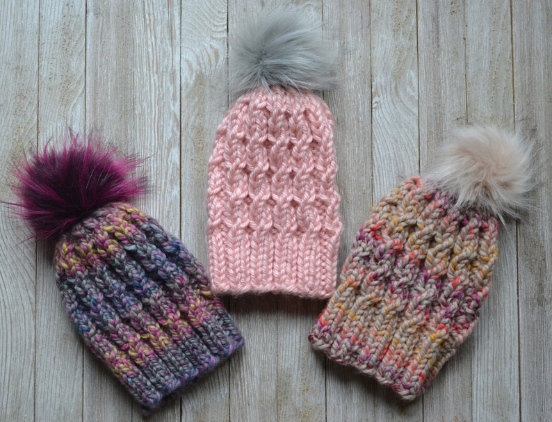 41af16a54aae9 KNITTING PATTERN The Willow Beanie PDF File Knit Hat