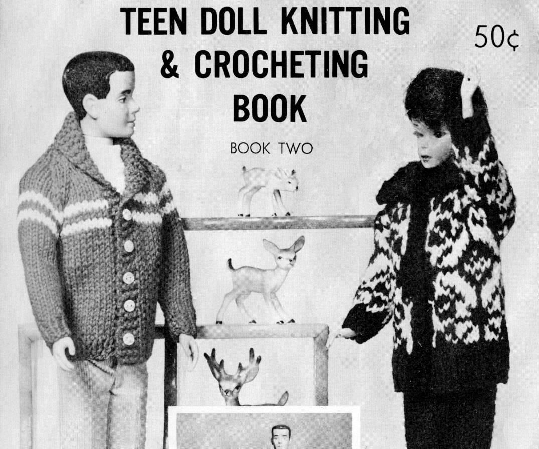 Virginia Lakin/'s Needlecraft Books Doll Knitting /& Crochet Books 10-18