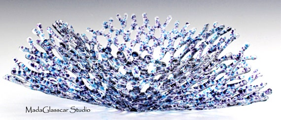 Aquatic Sea Fan Fused Glass Sculpture