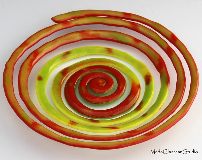 Featured listing image: Spiral Fused Glass Bowl