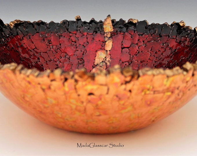 Featured listing image: The Copper Vein Fused Tempered Glass Bowl