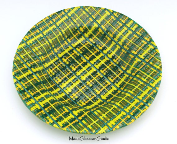 Erin Go Bragh Fused Glass Bowl