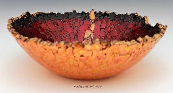 The Copper Vein Fused Tempered Glass Bowl