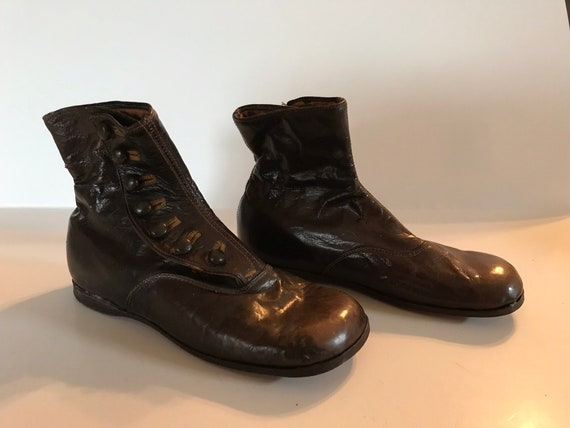Small Victorian Leather Boy's Button Shoes Boots