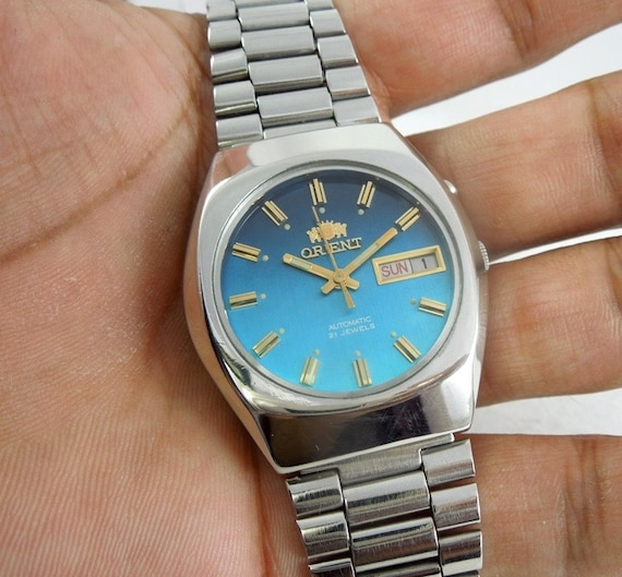 watch automatic orient vintage men day date 21 Jewels clean  706215e760a
