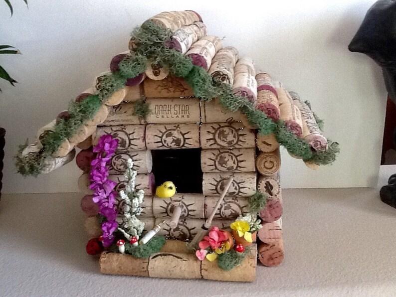 Rustic BirdhouseWine Cork Birdhouse Home Decor