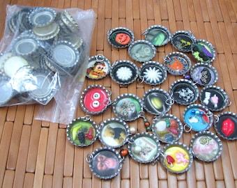Bottlecaps for Crafting, Jewelry Pendant Supplies, Bottlecap Supply Destash