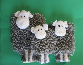 Herdwick sheep hot water bottle and cover in 3 sizes