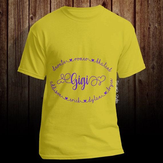 GiGi Established Shirt,Grandma Shirt Nana Shirt Mothers Day Gift Pregnancy Announcement Nana Personalized Shirt Grandkids Name Shirt