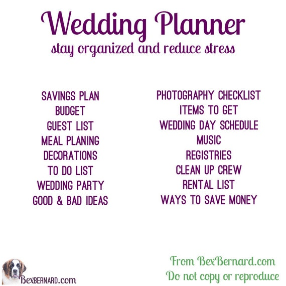 wedding planner digital excel file to customize and update etsy