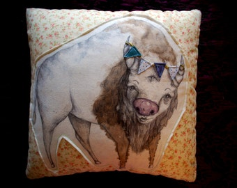 Illustrated Pillow - Custom, One of a Kind